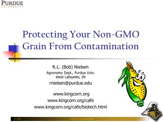 Protecting Your Non-GMO Grain From Contamination
