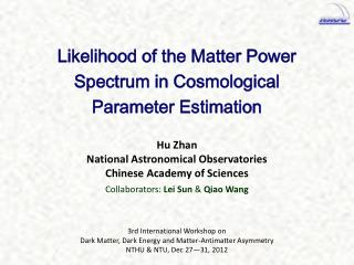 3rd International Workshop on Dark Matter, Dark Energy and Matter-Antimatter Asymmetry