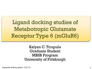 Ligand  docking studies of Metabotropic Glutamate Receptor Type 6 (mGluR6)