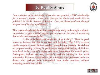 6.  Publications