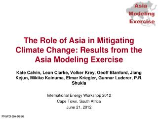 The Role of Asia in Mitigating Climate Change: Results from the Asia Modeling Exercise
