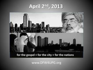 April 2 nd , 2013