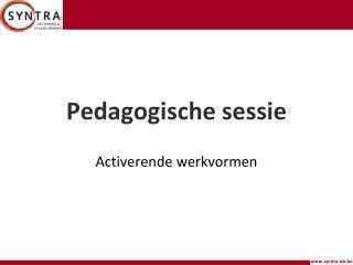 Pedagogische sessie
