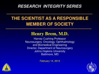 RESEARCH  INTEGRITY SERIES