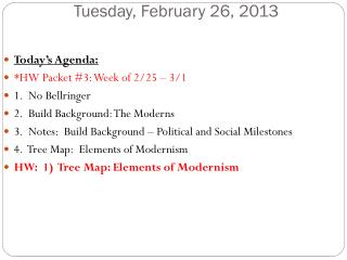 Tues day , February  26,  2013