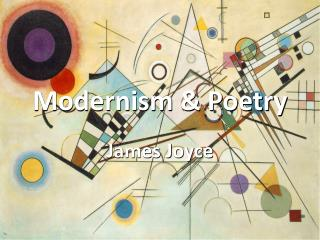 Modernism & Poetry