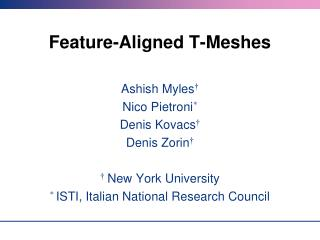 Feature-Aligned T-Meshes