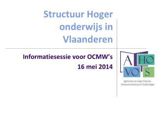 Structuur Hoger onderwijs in Vlaanderen