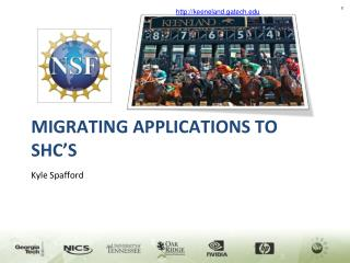 Migrating Applications to SHC's