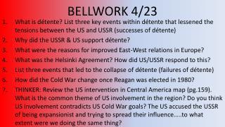 BELLWORK 4/23