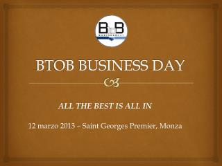 BTOB BUSINESS DAY