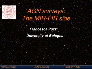 AGN surveys:  The MIR-FIR side