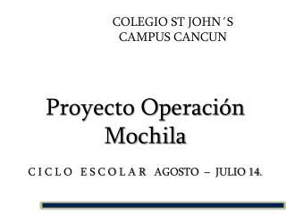 COLEGIO ST JOHN´S CAMPUS CANCUN