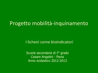 Progetto mobilit�-inquinamento