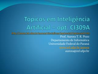 Prof. Aurora T. R.  Pozo Departamento  de Inform ática Universidade Federal do Paraná