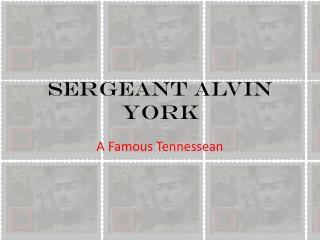 Sergeant Alvin York