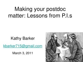 Kathy Barker kbarker715@gmail.com March 3, 2011