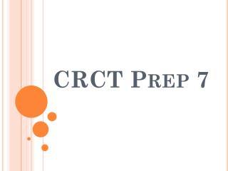 CRCT Prep 7