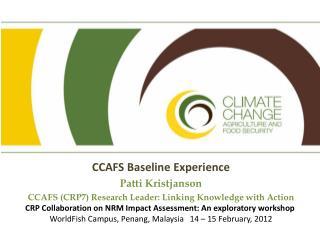 CCAFS Baseline Experience Patti Kristjanson