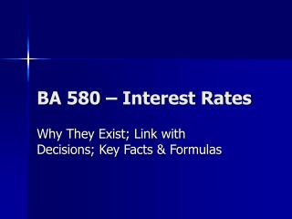 BA 580   Interest Rates