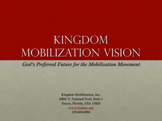 Kingdom Mobilization Vision