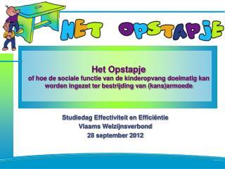 Studiedag Effectiviteit en Efficiëntie Vlaams Welzijnsverbond 28 september 2012