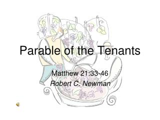 Parable of the Tenants