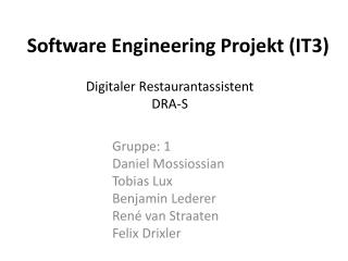 Software Engineering Projekt (IT3)