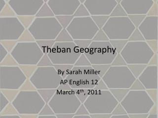 Theban Geography