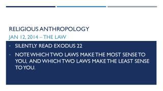 Religious Anthropology