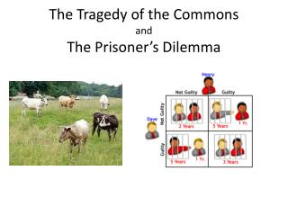 The Tragedy of the Commons and The Prisoner's Dilemma