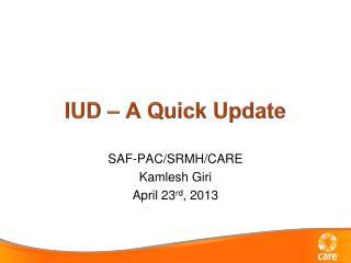 IUD – A Quick Update