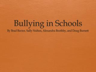 Bullying in Schools