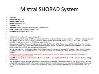 Mistral SHORAD System