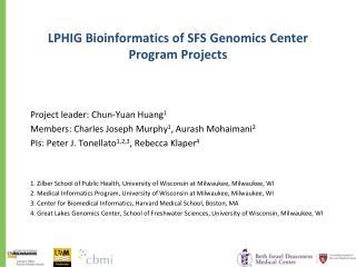 LPHIG Bioinformatics of SFS Genomics Center Program Projects