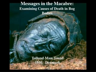 Messages in the Macabre:  Examining Causes of Death in Bog Bodies