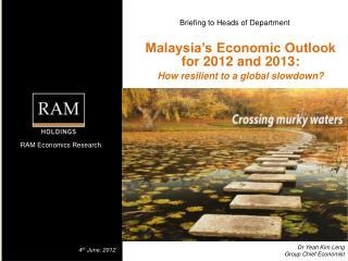 Dr Yeah Kim  Leng Group Chief Economist
