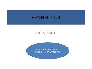 EENHEID 1.3