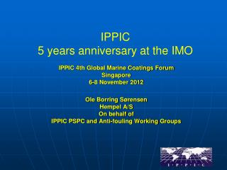 IPPIC  5  years anniversary at the IMO