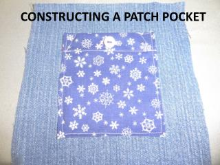 Constructing a Patch Pocket