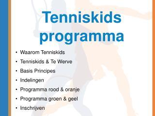 Tenniskids programma