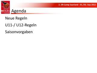 Neue  Regeln U11-/ U12-Regeln Saisonvorgaben