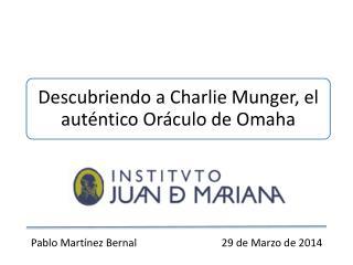Pablo Martínez  Bernal                                 29 de Marzo de 2014