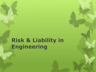 Risk & Liability in Engineering