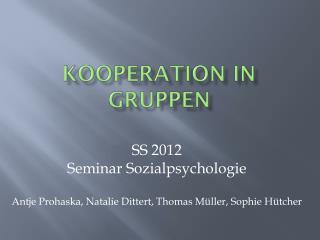 Kooperation in Gruppen