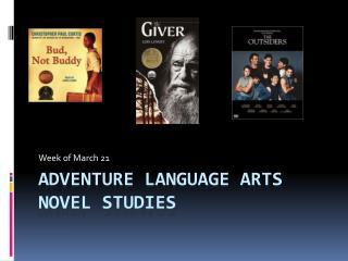 AdVENTURE Language Arts Novel Studies