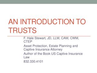 An Introduction to Trusts