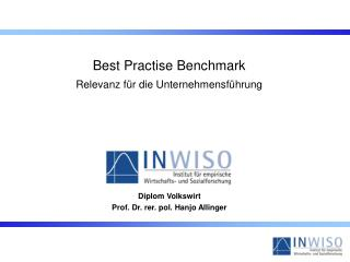 Diplom Volkswirt  Prof. Dr. rer. pol. Hanjo Allinger