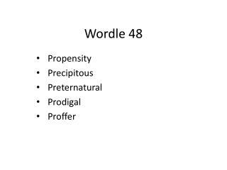 Wordle 48