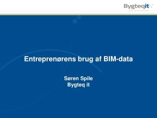 Entreprenørens brug af BIM-data